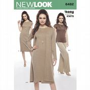 bc55e4687ab8 6482 New Look Pattern  Misses  Knit Dress